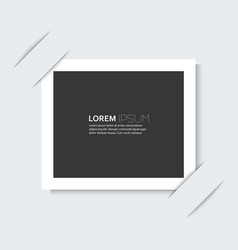 White frame with a simple design of the background vector image vector image