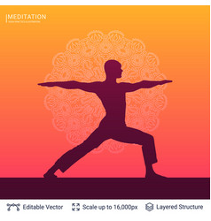 Yoga background template vector