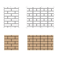 Two-row brick masonry vector