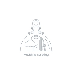 Bride linear icon reception arrangement vector
