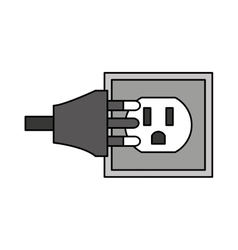 Wire cable energy plug icon vector