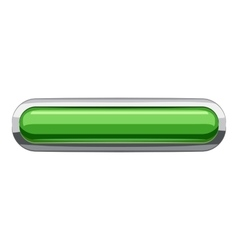 Light green rectangular button icon cartoon style vector