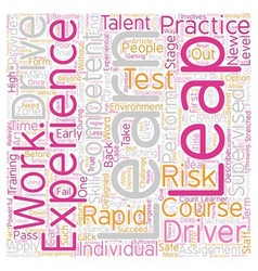 Leap experiences text background wordcloud concept vector
