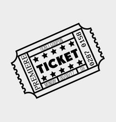 Cinema ticket entrance icon vector