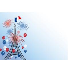 14 july bastille day design vector image