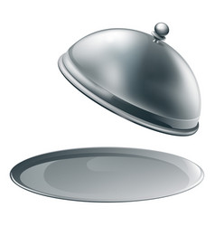 open silver platter vector image