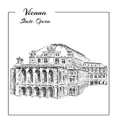 Vienna state opera house austria wiener vector