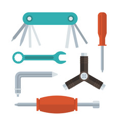 Screwdrivers and wrenches set vector