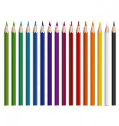 wooden pencils vector image