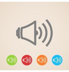 Speaker volume icons vector