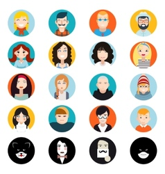 Stylish handsome male and female characters avatar vector