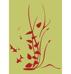 Floral swirl element vector
