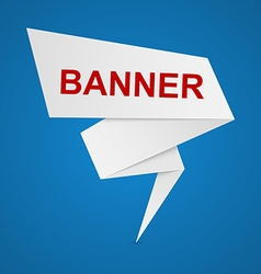 Paper banners for your text vector