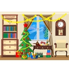 New year room vector