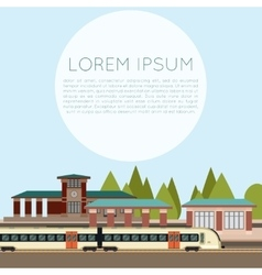 Suburban train station vector