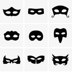 Festive masks vector