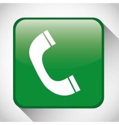 Call button icon social media design vector