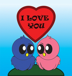 Birds i love you vector image vector image