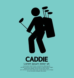 Caddie Graphic Sign vector image