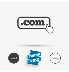 Domain COM sign icon Top-level internet domain vector image vector image