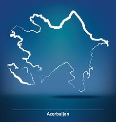 Doodle Map of Azerbaijan vector image vector image