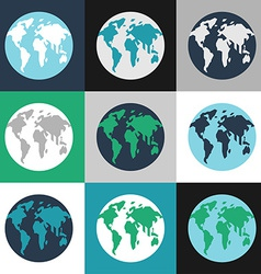 Earth day celebrating card or poster design set of vector