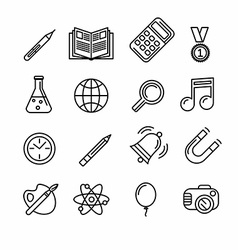 Education and learning icon set vector image vector image
