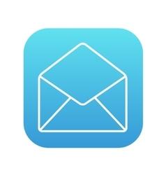 Envelope line icon vector image vector image