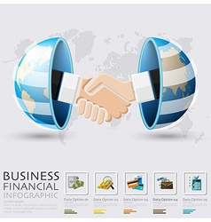 Global business and financial handshake vector