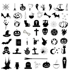 Icons on the theme of Halloween vector image vector image