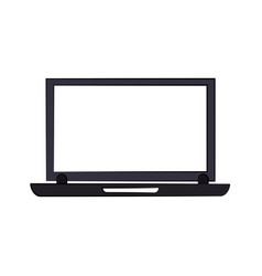 laptop computer with blank screen icon image vector image vector image