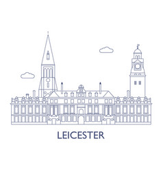 leicester vector image vector image