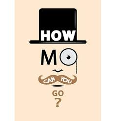 Movember design vector