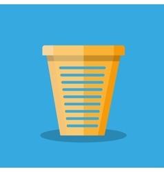 office empty trash recycle bin vector image vector image