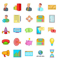 Pouch icons set cartoon style vector