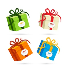 Present Box Gift Box Set vector image