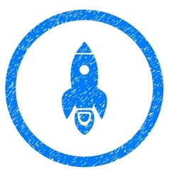 Rocket Start Rounded Icon Rubber Stamp vector image vector image