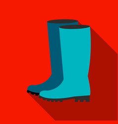 rubber boots icon of for web vector image