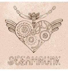 steampunk heart vector image