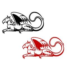 Vintage heraldic griffin vector image
