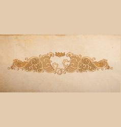 Vintage wedding ornament vector