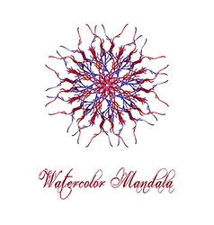 Watercolor Mandala2 vector image vector image