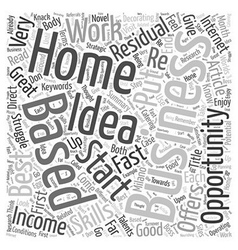Residual income home based business opportunity vector