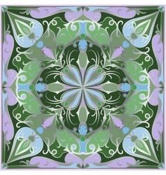 Bright green handkerchief vector