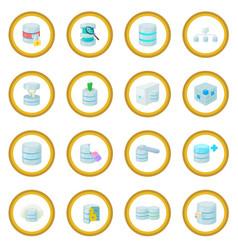 Data base icon circle vector