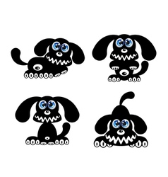 Happy Dog with blue eyes vector image