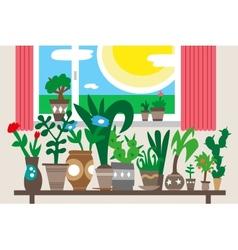 houseplants - vector image