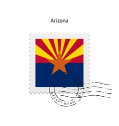 State of arizona flag postage stamp vector
