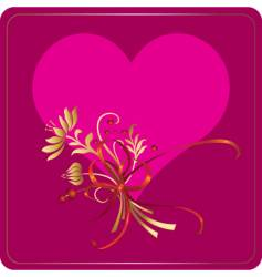 valentine heart flow vector image