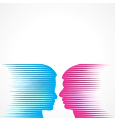 Abstract male and female face vector